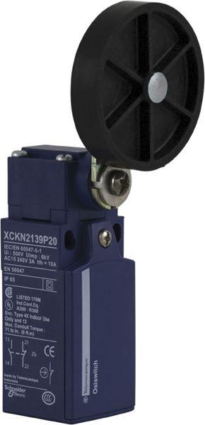XCKN 2139P20 thermoplastic roller lever Ø50mm - 1NC+1NO - snap - M20, 240VAC 10A