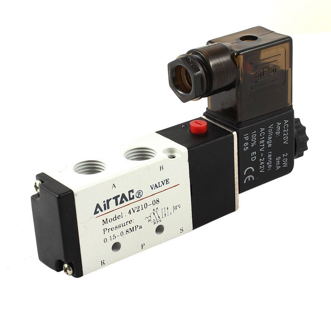 4v210 08 dc24v air valve 5 port 4 way 2 position solenoid for Air motors and drives llc